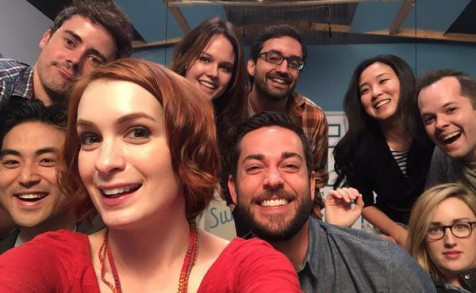 Felicia Day, Zachary Levi, Online Communications Manager Sophie Yan and friends