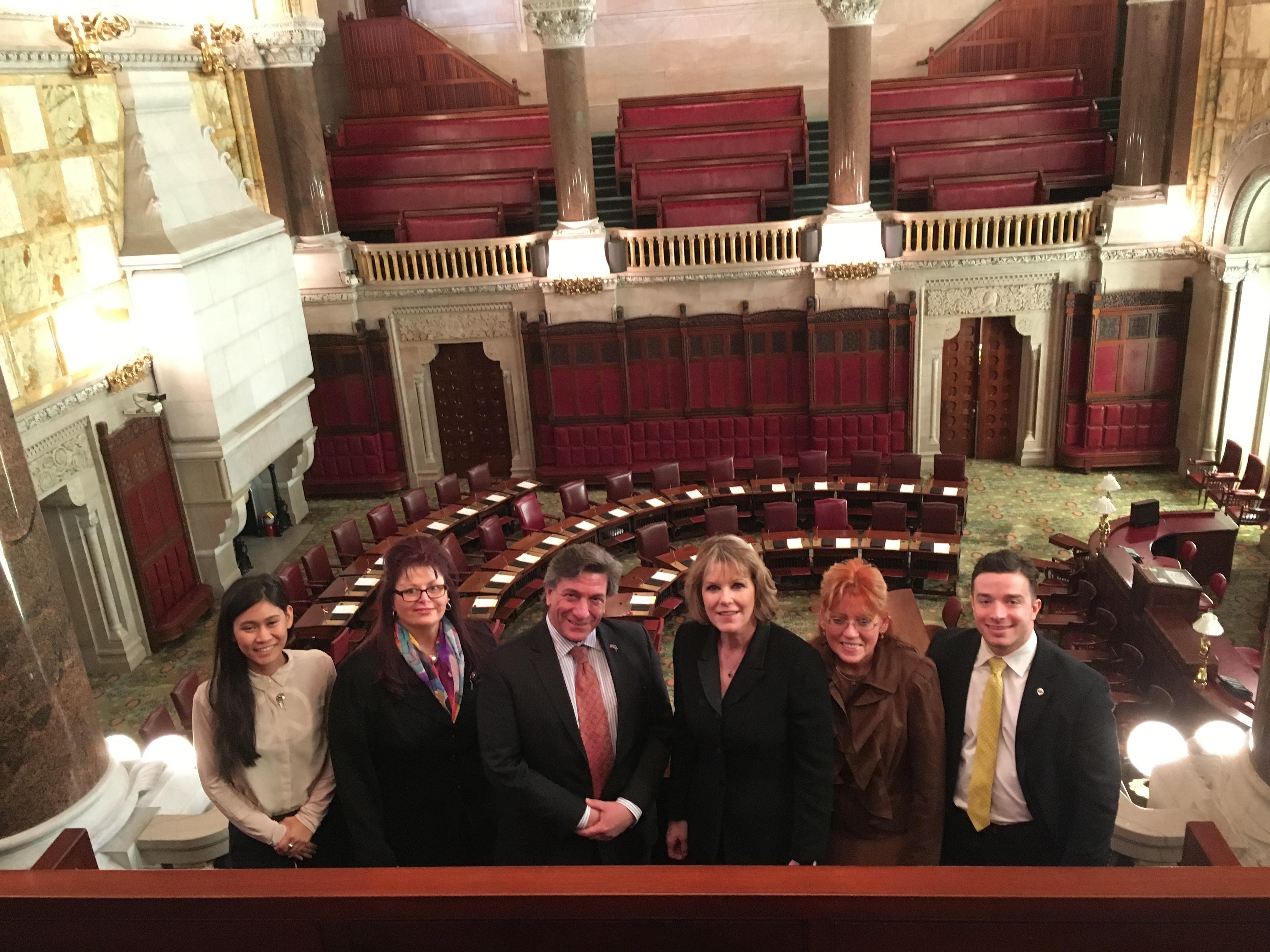 Lupus advocates at the New York State capital